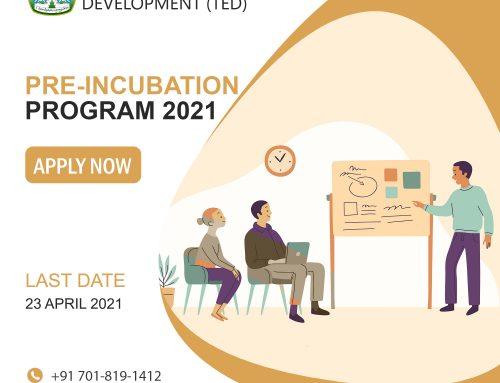 Tibetan Entrepreneurship Development (TED)'s Pre-Incubation program 2021